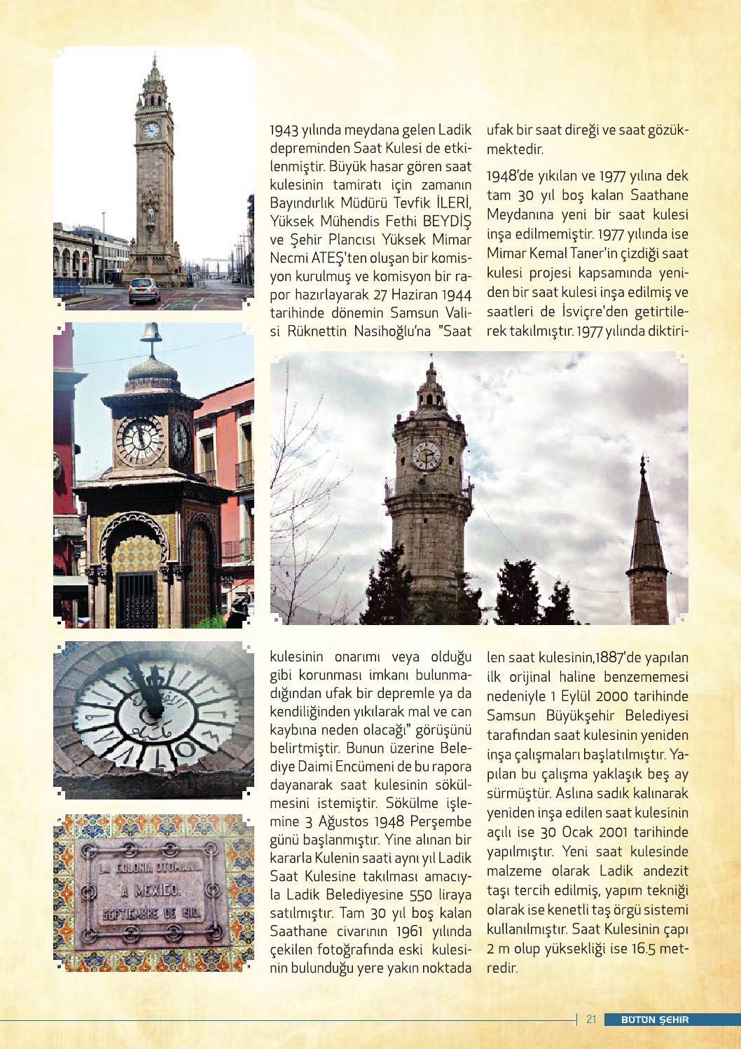 Saat Kuleleri ve Samsun Saat Kulesi