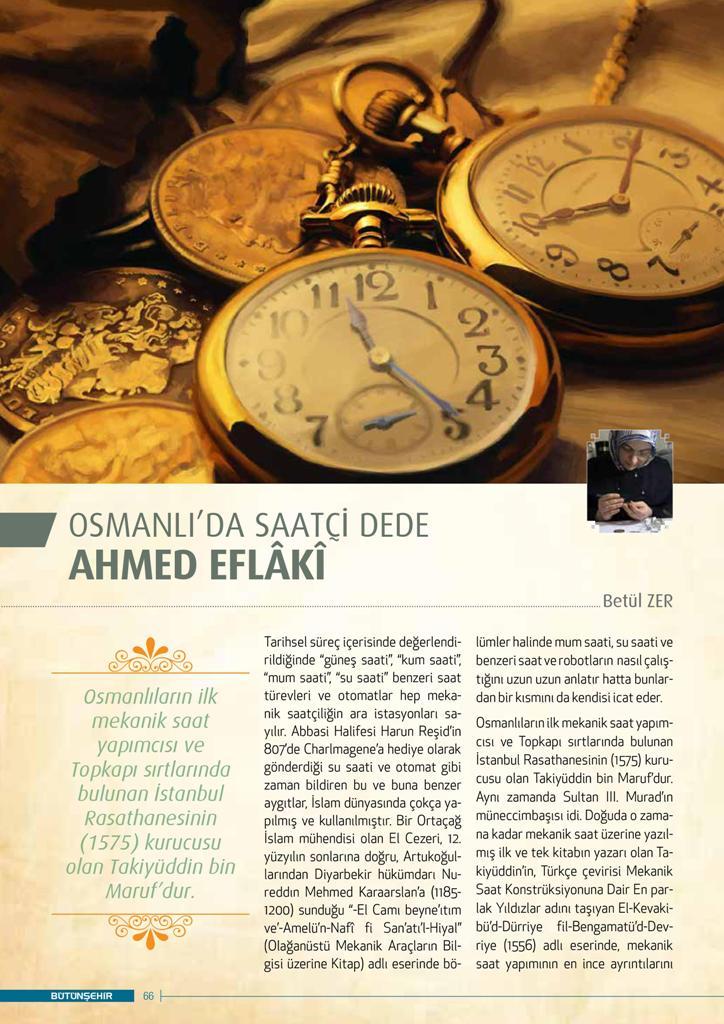 Osmanlıda Saatçi Dede Ahmed Eflaki